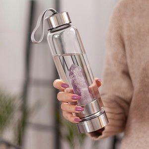 Healing Natural Quartz Water Bottle
